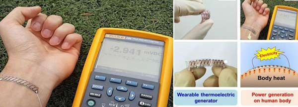 This Wearable Generates Electricity Through Body Heat